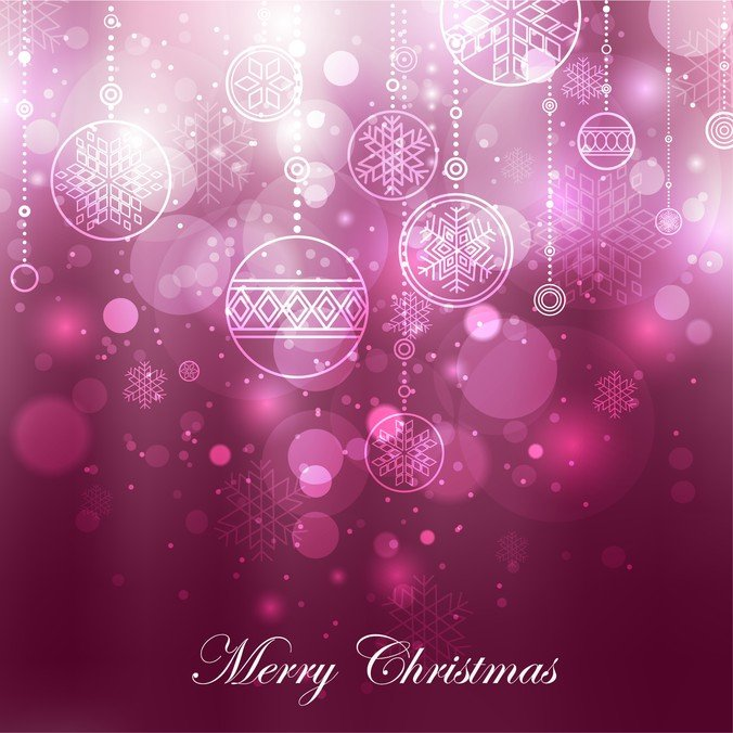 Purple Christmas Decoration