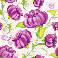 Abstract Flowers Seamless Background