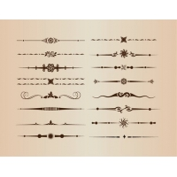 Vector Set of Decorative Design Divider Elements