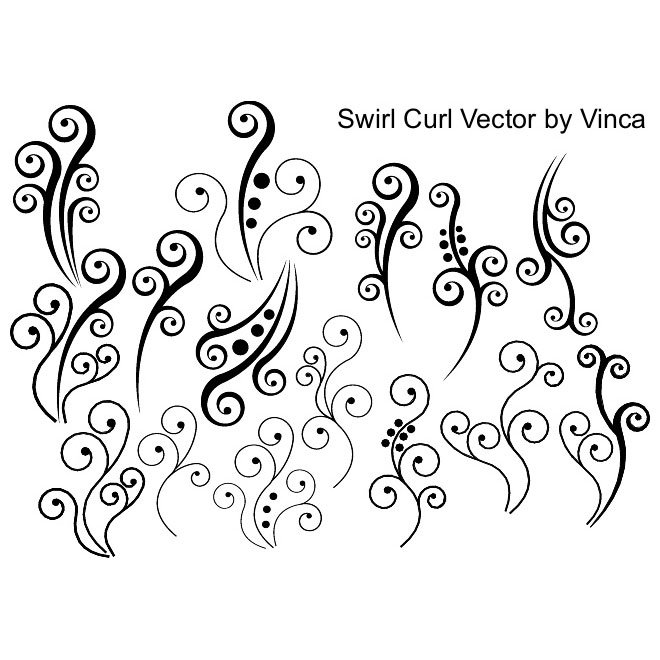 CURLY FLORAL VECTORS