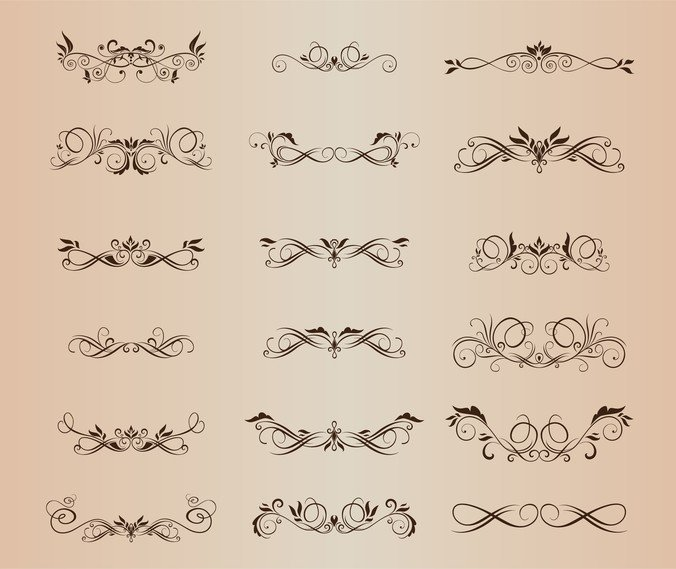 Vector Set Of Beautiful Design Elements