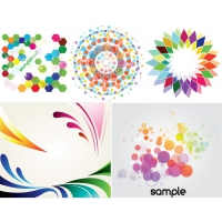 Colorful Backgrounds Decorative Elements Free