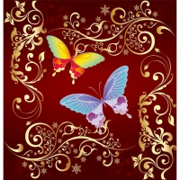 Vector Ornament Butterfly Design, Illustrator Vector Ornament Ai