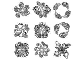 Free Abstract Vector Flower Set