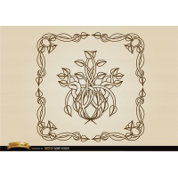 Coiled stems decoration frame