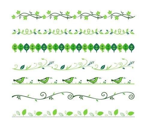 Vector Set of Floral Divider