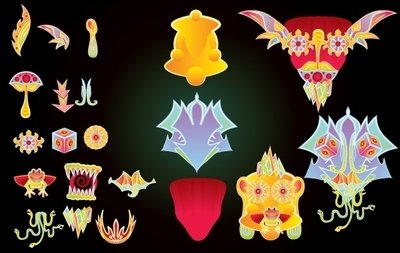 Psychedelic Face Element Pack