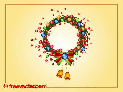 Rounded Swirly Christmas Wreath
