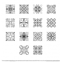 Square Ornaments Vector Pack