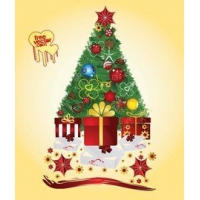 Ornament Vector ElementsGift Boxes Under a Decorative Xmas Tree