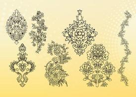 Outline Flowers Vectors