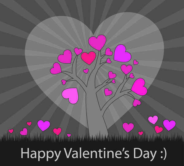 Pink Hearts Card