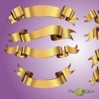 Decorative Golden Ribbon Pack