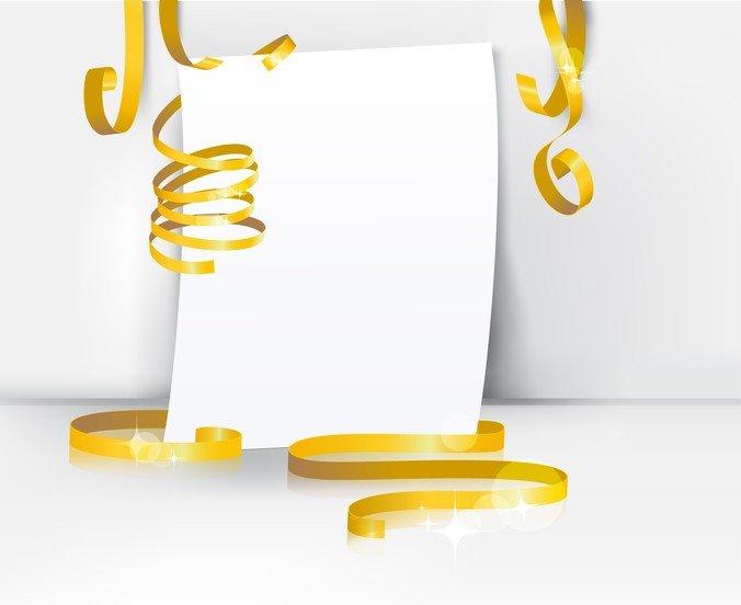 Decorative Ribbon Design Template Vector 1 Text