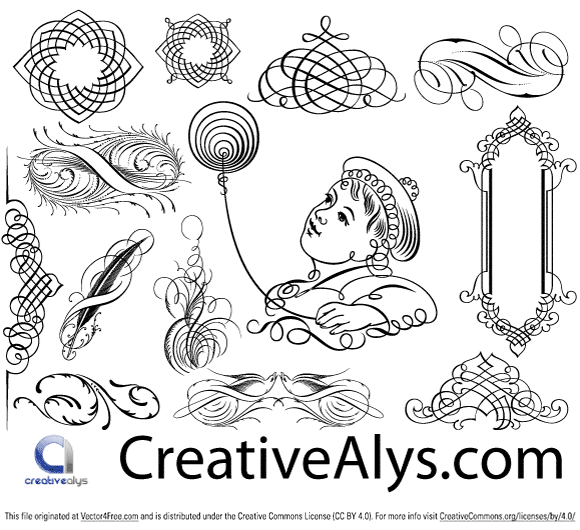 Calligraphic Ornaments in