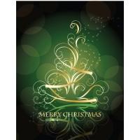 Golden Swirling Christmas