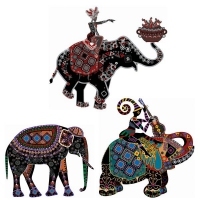 Ethnic Customs Fine Decorative Painting Vector Ethnic