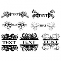 FLORAL TEXT VECTOR FRAMES