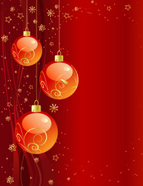 Starry & Ornamental Reddish Xmas Background