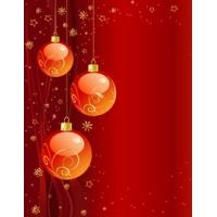 Starry & Ornamental Reddish Xmas Background