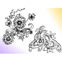Sketchy Decorative Floral Ornament Brushes