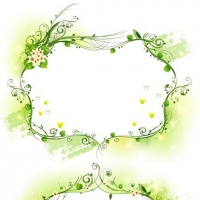 Three Kinds Of ELegant Yellow-Green Decorative Frame