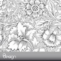 Ornamental Flower Background