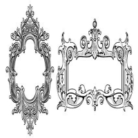 European-style ornate decorative frame