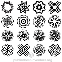 Decorative Geometric Shapes Vector Illustrator