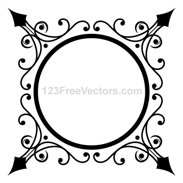 Circle Ornate Frame