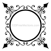 Circle Ornate Frame
