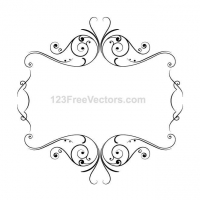 FRAME WITH ORNAMENTS VECTOR