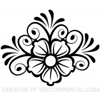 Flower Ornament Vector Art