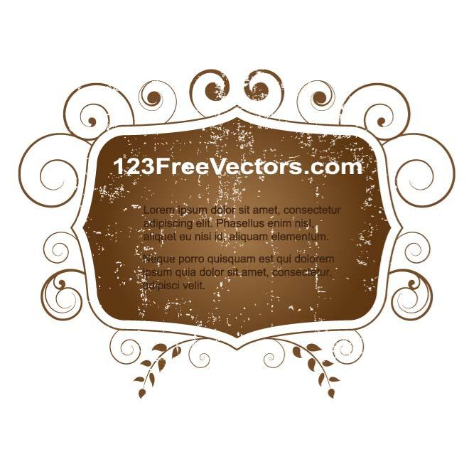 DECORATED VECTOR BANNER