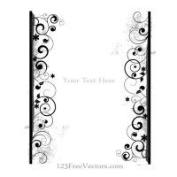 DECORATIVE FRAME TEMPLATE VECTOR