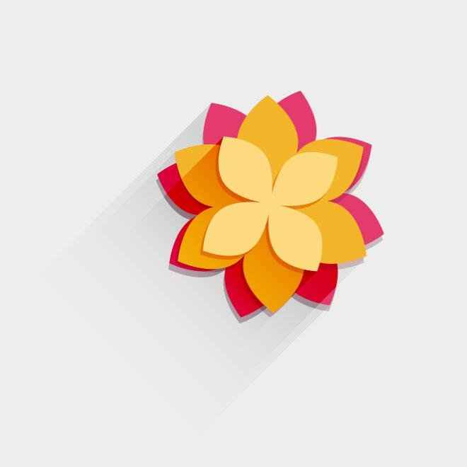 FUNKY FLOWER VECTOR GRAPHICS