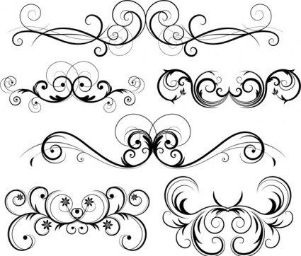 Free Ornate Vector Swirls