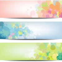 Elegant Ink Flowers Banner