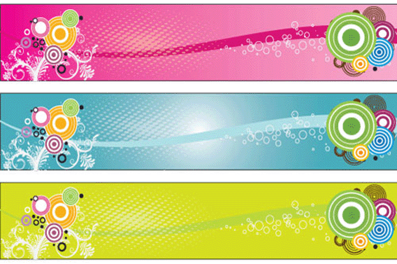 Colorful Retro Banners