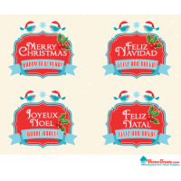Free Royalty-Free Vectors to Say Merry Christmas