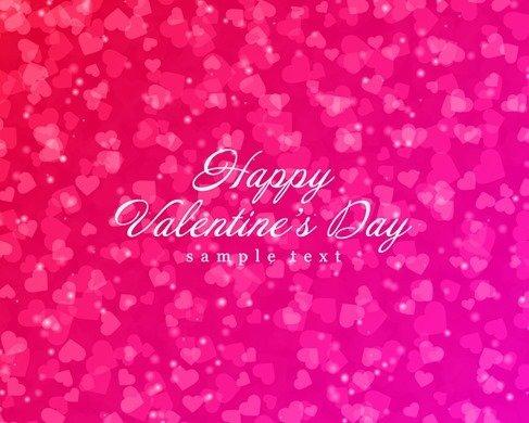 Shiny Hearts Bokeh Light Valentine's Day Background