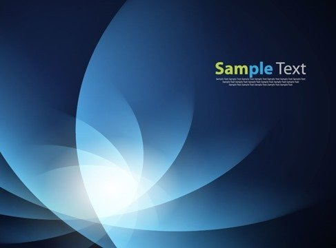 Abstract Blue Design Vector Illustration Art