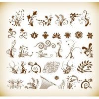 Floral Patterns for design Vector Illustration Set