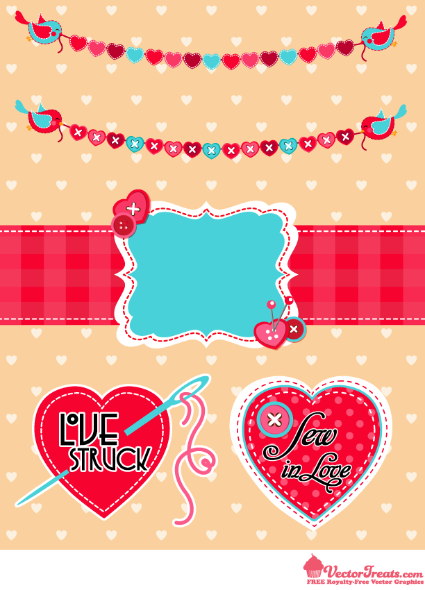 Love Struck Over These Free Valentine Vectors