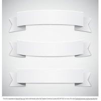 Three White Banner Vectors