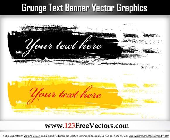 Free Grunge Text Banner