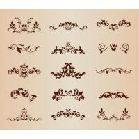 Set of Vector Floral Ornamental Elements for Design