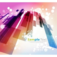 Abstract Design with Bokeh Light Background