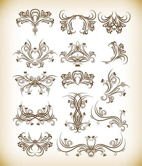 Floral Graphics Vector Set