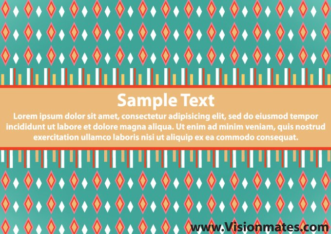 Retro Banner Vector With Green Background